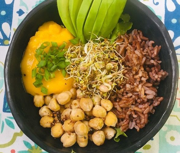 Buddha bowl à la mayonnaise de courge