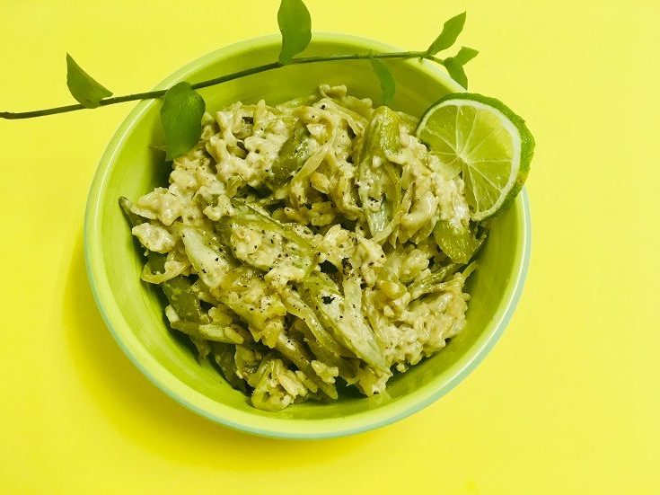 Risotto vegan aux gombos | in-green.net