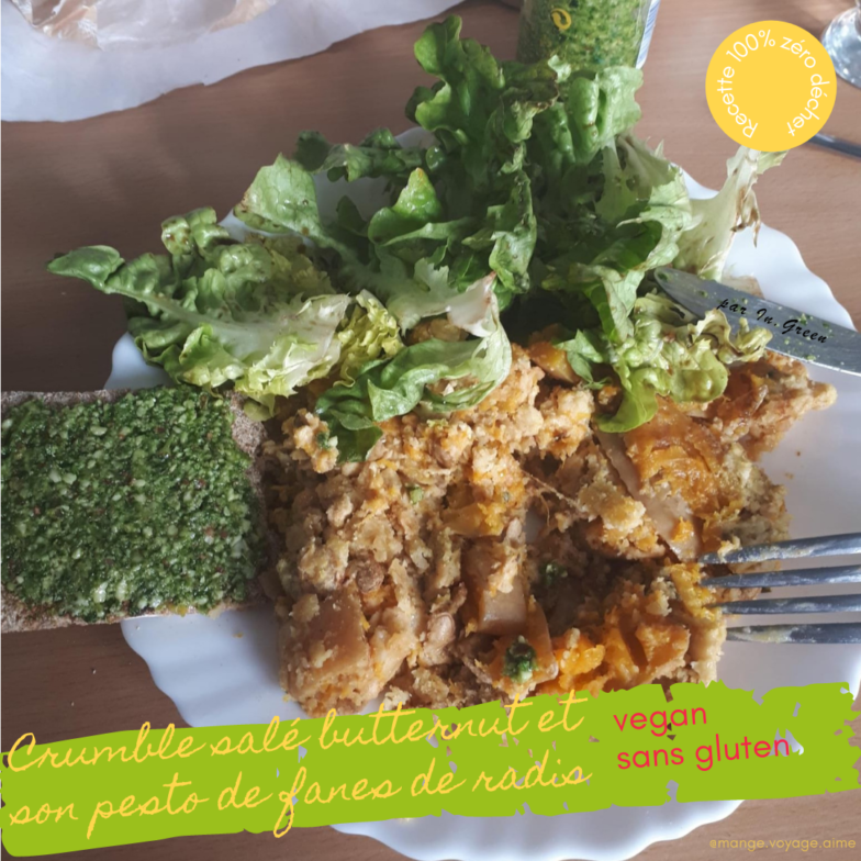 |in-green.net| Crumble courge pesto de fanes de radis